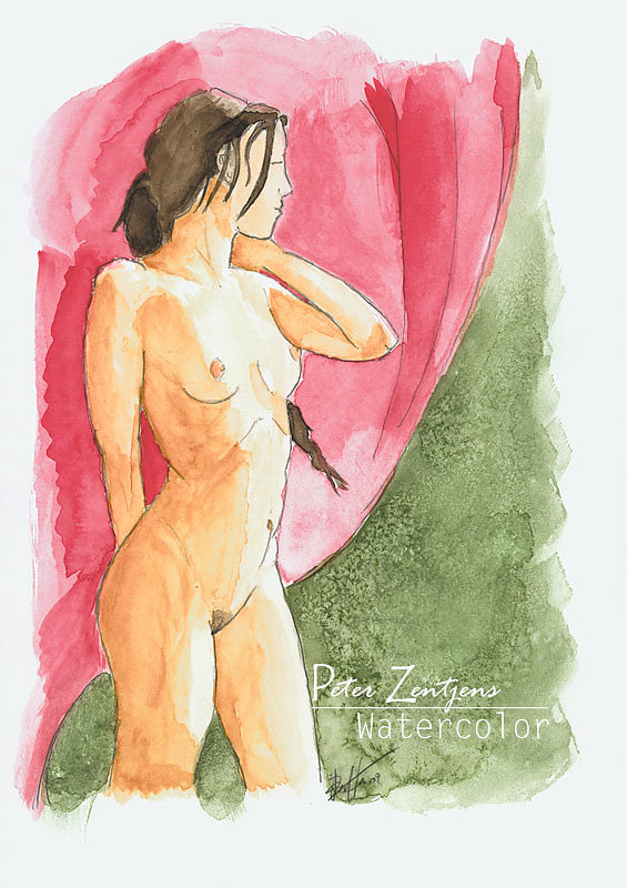 Watercolor boudoir